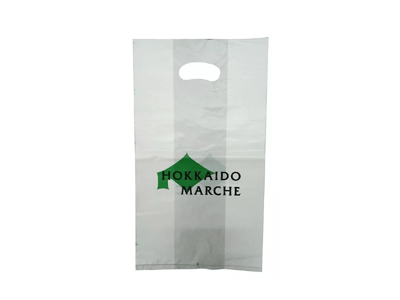 White HDPE Punch Hole Bag Printed 2 Colour 2 Side