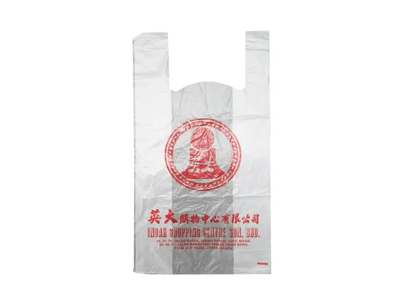 TR HDPE Singlet Bag Printed 1 Colour 1 Side