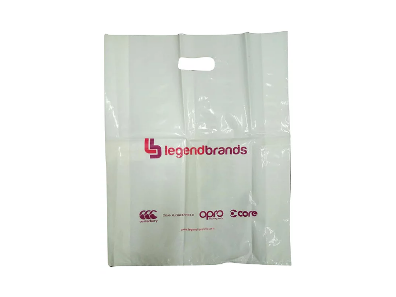 White LDPE Punch Hole Bag Printed 2 Colour 2 Side