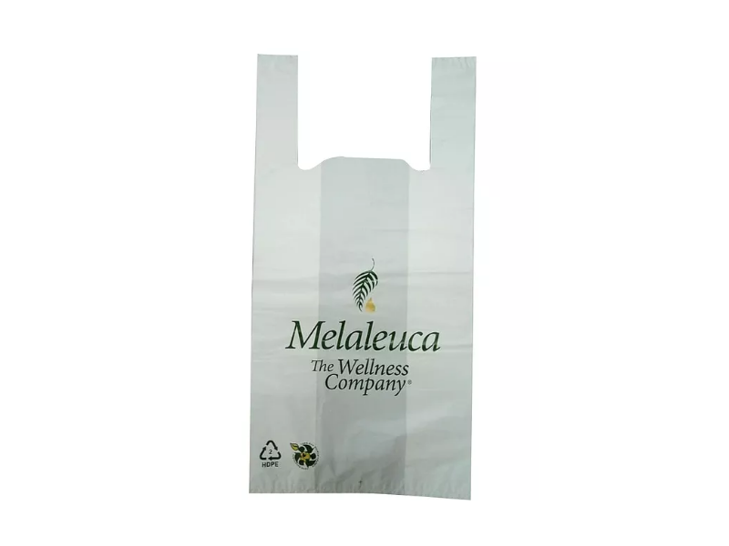 White HDPE Singlet Bag Printed 2 Colour 1 Side